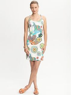Trina Turk Crazy Botanical twist-strap dress | Banana Republic  (own it)