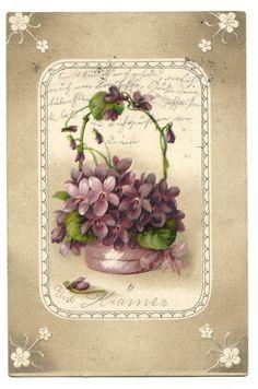 Blumenkorb mit Schleife, 1915   eBay