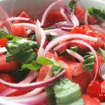 Raw Watermelon & Tomato Summer Salad