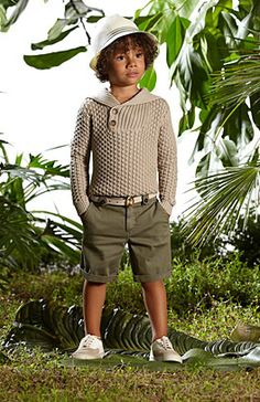 Love the sweater!  Cute boys animal kingdom outfit