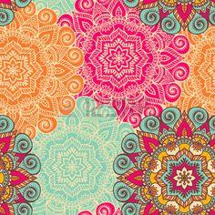 hindu drawing: Vector de la mandala. Ornamento redondo en estilo étnico. Dibujar a mano