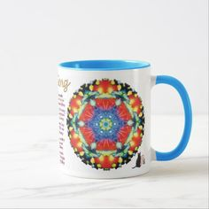 Candied Kaleidoscope Yoga Song Mug - 50% OFF Mugs – Use CODE: ZSUNSTEAL158 'til Midnite Tonite 11-27-16. A delightful mug that features a Kinetic Collage kaleidoscope composition created from a psychedelic light show image. The Yoga Song verse will cheer your spirit as you enjoy your favorite refreshing beverage. Sip and muse deep harmonious thoughts. Over 3000 products at my Zazzle online store. Open 24/7 World wide! http://www.zazzle.com/greg_lloyd_arts*?rf=238198296477835081