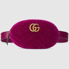 8952a473491a GUCCI Gg Marmont Matelassé Velvet Belt Bag. #gucci #bags #leather #belt