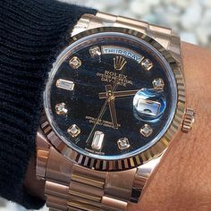 DAY DATE 36 with very rare FERRITE dial is dedicated to @alekswatches cong... | http://ift.tt/2cBdL3X shares Rolex Watches collection #Get #men #rolex #watches #fashion