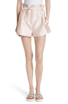 The crisp array of folds that define the paperbag waist of these luminous double-face satin shorts are reminiscent of intricate origami designs. Satin Shorts, Origami Design, Queen, 3.1 Phillip Lim, Dress Skirt, Spring Fashion, Casual Shorts, Short Dresses, Nordstrom