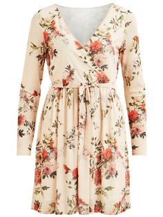 VIDANCER DRESS 500,- Peach Blush, Trending Now, Flower Patterns, Floral Tops, Dresser, Dresses With Sleeves, Sleeved Dress, Clothes, Women