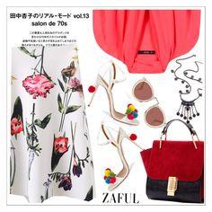 Zaful by teoecar on Polyvore featuring polyvore fashion style Etro Aquazzura Karen Walker clothing
