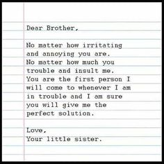 Tag-mention-share with your Brother and Sister 💙💚💛👍 Brother Poems From Sister, Older Brother Quotes, Sibling Quotes Brother, Best Brother Quotes, Little Brother Quotes, Brother And Sister Relationship, Sister Quotes Funny, Brother And Sister Love, Rakhi Wishes For Brother