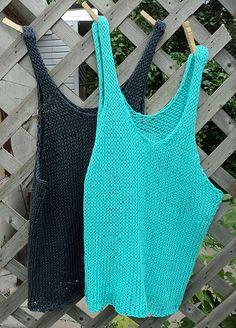 Ravelry: Tala Tank Top pattern by Wool and the Gang Crochet Tank Tops, Crochet Summer Tops, Summer Knitting, Knitted Tank Top, Wool And The Gang, Débardeurs Au Crochet, Salma Hayek, Knitting Patterns Free, Crochet Clothes