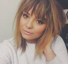 16.Hairstyle for Short Hair with Bangs #BangsHairstylesIdeas