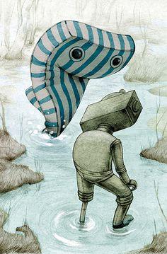 Jonathan Burton's hitchhiking illustrations