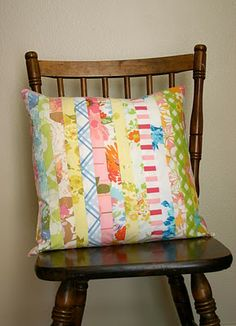 Fabric Strip pillow sham from Sparkle Power