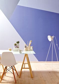Adorable Home Interior Decoration Ideas With Wall Paint 34 Wallpaper Decor, Paint Wallpaper, Home Office Colors, Wall Painting Decor, Room Decor, Wall Decor, Block Wall, Interior Decorating, Interior Design