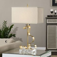 Uttermost Camarena Bright Gold Lamp