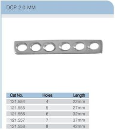 42f59f508ca Dynamic compression plate 2.0 mm We manufactures  DCP  plates 2.0 mm of  high quality