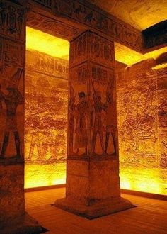 Inside the temple of Rameses
