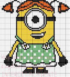 212 Besten Pixel Art Minions Bilder Auf Pinterest