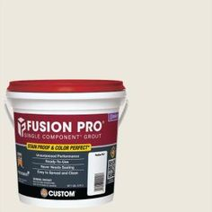 Custom Building Products Fusion Pro Single Component Grout is a professional grade, single component sanded grout. Fusion Pro requires no mixing and is ready to use on ceramic, porcelain, glass tiles Grout Stain, Cement Grout, Epoxy Grout, Sanded Grout, Floor Grout, Tile Grout, Travertine Tile, Concrete Floors, Home Depot