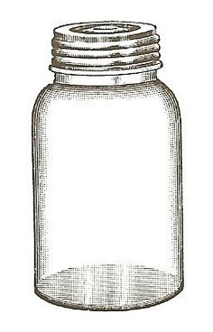 Empty Jar unmounted rubber stamp by vintagebliss on Etsy, $4.50