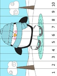 Here's a penguin themed puzzle. Cut into strips and students order assemble by placing the numbers in order.
