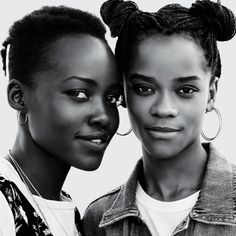 fallenvictory:Letitia Wright and Lupita Nyongo photographed by...
