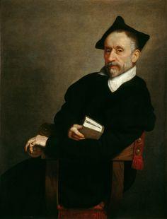 "Giovanni Battista Moroni (Italian c. 1520/1524–1579) [Renaissance, Mannerism, Portrait] Portrait of Ercole Tasso, called ""Titian's Schoolmaster"", ca. 1575. Widener Collection, National Gallery of Art, Washington, DC."