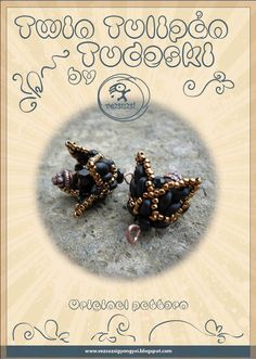 *P Beaded Bead Pattern Tulipan Tudeski with Twin - PDF instruction for personal use only. $9.00, via Etsy.