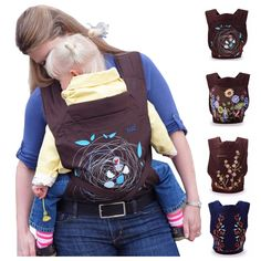 High Quality Ergonomic Baby Carrier 0-3Years Infant 4 Designs Baby Carrier MiniZone Fashion Pattern Design Baby Sling Ergonomic