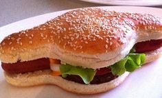 A Man Has Invented A Bun That Holds A Hot Dog And A Hamburger