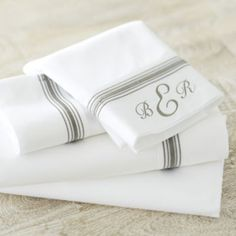 Amelie Embroidered Sheet Set - Gray | Ballard Designs