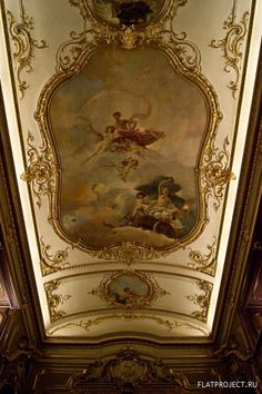 Moscow Highlights?: The Yusupov Palace (Moika Palace) wall and ceiling paintings.