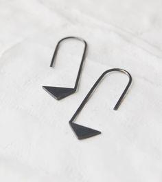 Oxidized silver geometrics pendants earrings Les géométriques Nro17 FREESHIPPINGFRANCE via Etsy