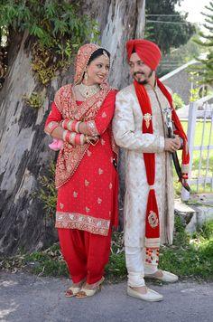 wedding punjabi patiala suit singh sardar punjaban indian sherwani  sikh redturban newlywed