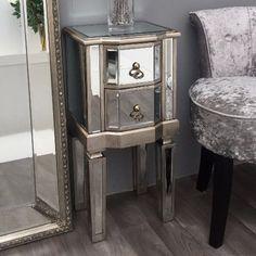 Best Cute Small Bedside Tables Ideas Narrow Mirrored Bedside 400 x 300