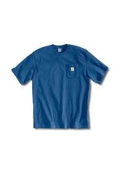 Carhartt Mens K87 Workwear Pocket T Shirt - Royal | Buy Now at camouflage.ca