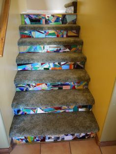 My glass mosaic stairs!