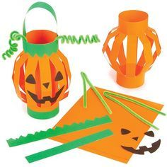 Baker Ross Pumpkin Lantern Kits for Children for Halloween to Make and Play (Pack of Diy Halloween, Halloween Arts And Crafts, Theme Halloween, Halloween Activities, Holidays Halloween, Halloween Pumpkins, Halloween Decorations, Autumn Crafts, Holiday Crafts