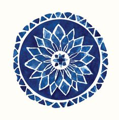 """portermoto: """" Healing Chime Mandala Logo was originally designed by Ludmila Vilarinhos and is held under a Creative Commons BY License to be freely distributed """" Watercolor Mandala, Watercolor Art, Mandala Painting, Illustrations, Illustration Art, Mandala Azul, Inspiration Artistique, Art Inspo, Art Photography"""