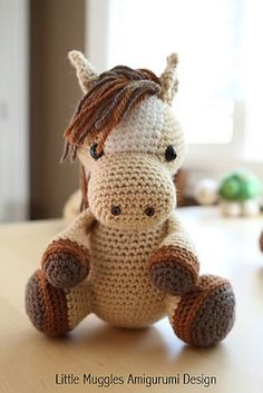 "Amigurumi Horse - ""Lucky"" - $4.99 by Amy of Little Muggles / Horses, Ponies & Unicorns - Animal Crochet Pattern Round Up - Rebeckah's Treasures"