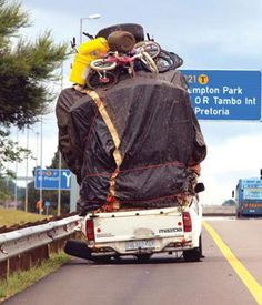 Traveling in typical South African fashion! Out Of Africa, My Land, Chuck Palahniuk, South Africa, Transportation, Funny Pictures, Funny Memes, The Incredibles, Culture