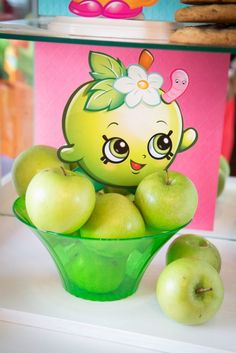 Apple Blossom apples from Abriella's Shopkins Birthday Party on Kara's Party Ideas | KarasPartyIdeas.com (10)