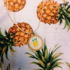 Verão sabor de fruta 🍍 #lojaamei #etiquetaamei #abacaxi #colar #acessório #verao