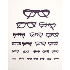 "Silkscreen print ""Eye Chart"" by Heather Moore of Skinny laMinx"