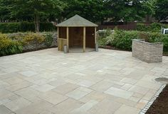 Indian Sandstone Paving Ideas Mosaic Patio Table, Patio Slabs, Cement  Patio, Patio Wall