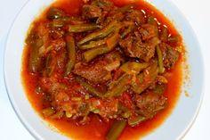 ETLİ FASÜLYE YEMEĞİ, czyli fasola szparagowa zmięsem Ratatouille, Thai Red Curry, Ethnic Recipes, Food, Hoods, Meals