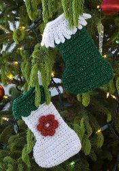 Little Stocking Ornaments free crochet pattern