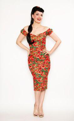 Scarlett Dress in Poppy Print