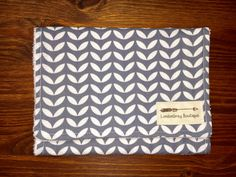 Burp Cloth, Gray, Tulip, Modern by LondonGreyBoutique on Etsy