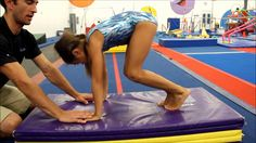 "It's one of those things that comes naturally to some kids and then is such a challenge for others — going vertical in cartwheels. When a gymnast isn't going vertical (or ""r…"