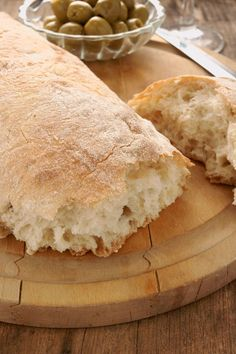 Bread Recipe: Perfect Ciabatta Ciabatta   Bread  Ingredients      3 1/4 cups flour     1 1/2 teaspoons active dry yeast       1 teaspoon ...